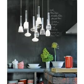 Or something from this range... So many more choices when looking at pendant lighting then bathroom mirror sconces, also not mounting means they can be placed with a nice balance wrt basin/mirror etc