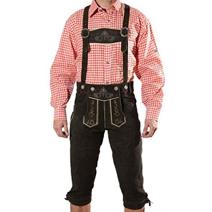 Bayerische Herren Trachten Lederhose Trachtenleder