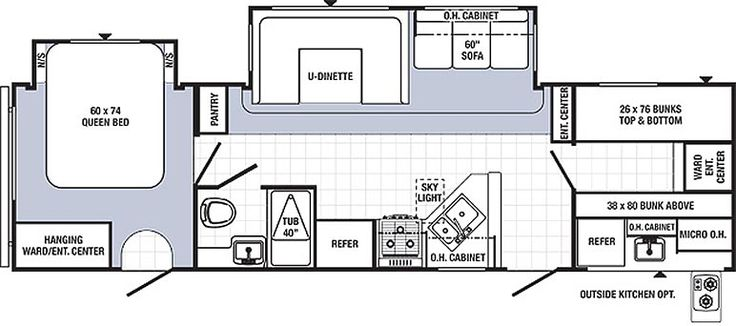 17 best images about rv wagon tiny home floor plans on for Small bunkhouse floor plans