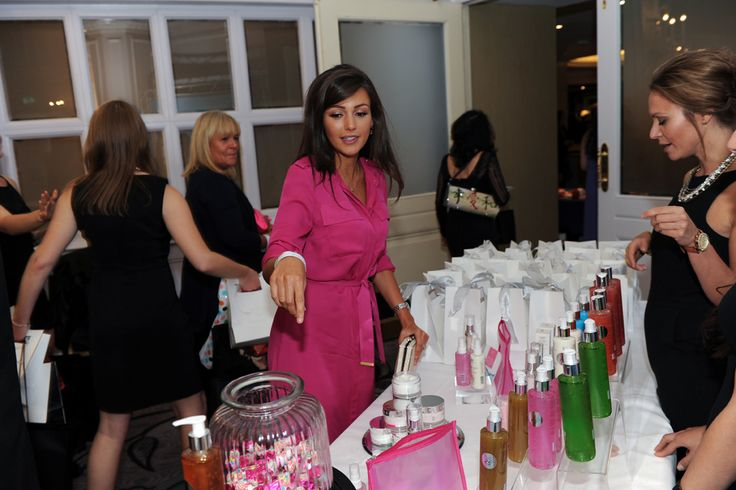 Michelle Keegan points out some of her favourites from the SBC stand