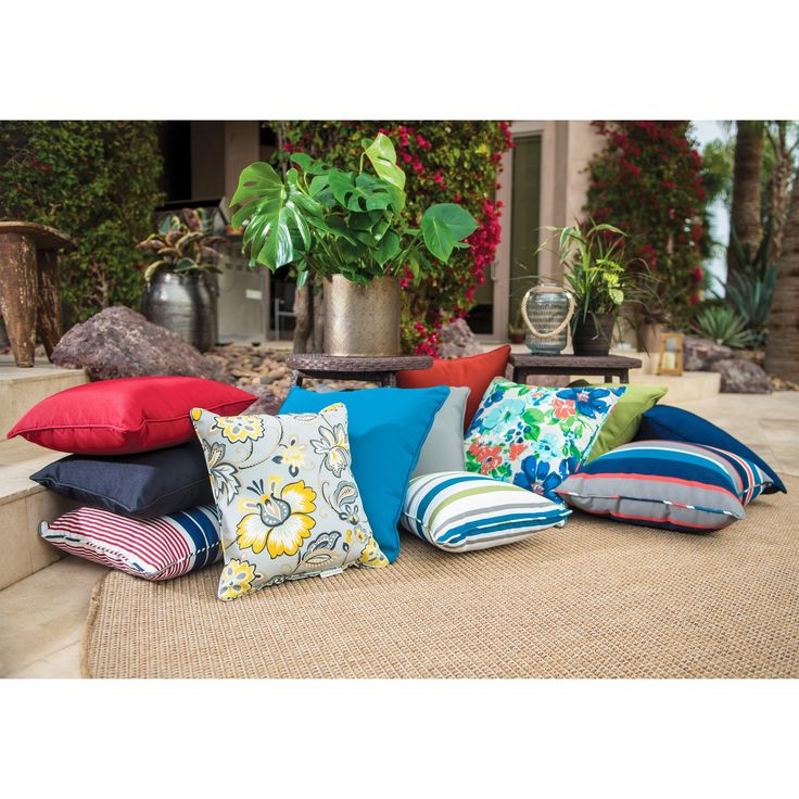 Coral Coast Classic 20 x 20 in. Outdoor Toss Pillows - Set of 2 - M015-1-AFS029-SAGE GREEN