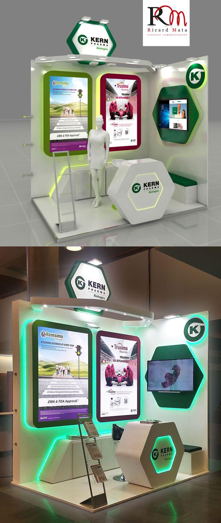 De pequeño formato éste stand brilla por su diseño espectacular y una combinación perfecta de iluminación . Un gran stand en un pequeño espacio.
