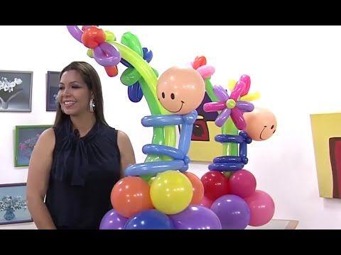 Globoflexia- Como hacer un Muñeco de Globos con Flores - Hogar Tv  por J...