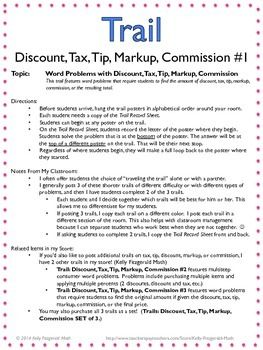 trail discount tax tip markup commission 1 tips. Black Bedroom Furniture Sets. Home Design Ideas