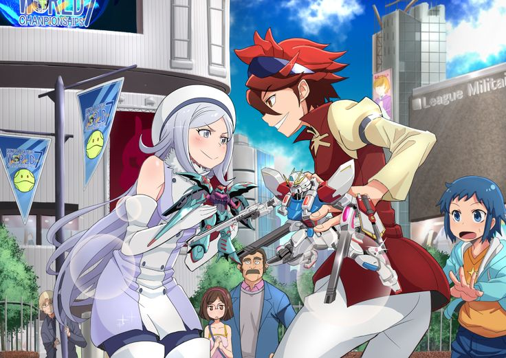 Gundam Build Fighters Reiji and Aila