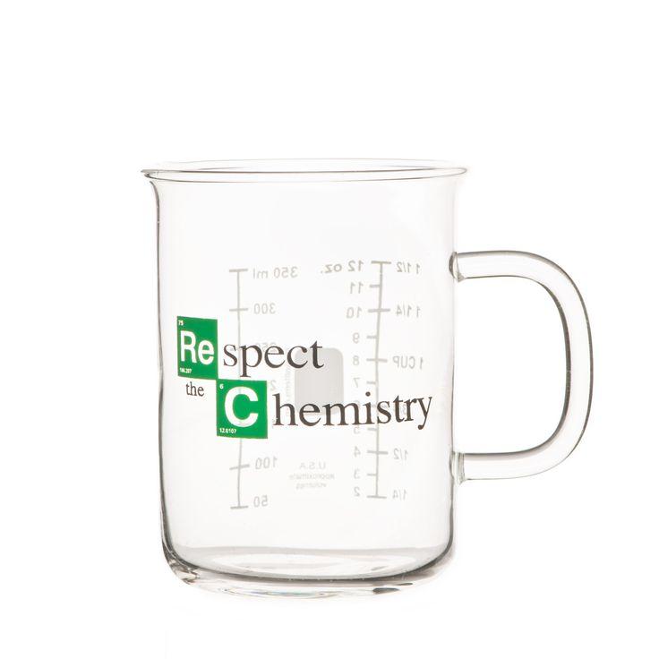 """""""""""Respect the Chemistry"""""""" Beaker Mug inspired by Breaking Bad"""