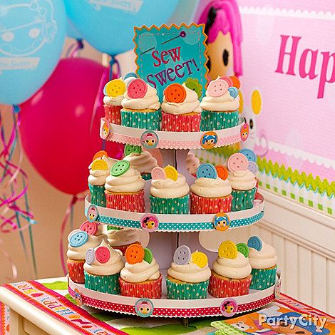 A DIY Cupcake Tower Is Doll Icious For Lalaloopsy Party Start With