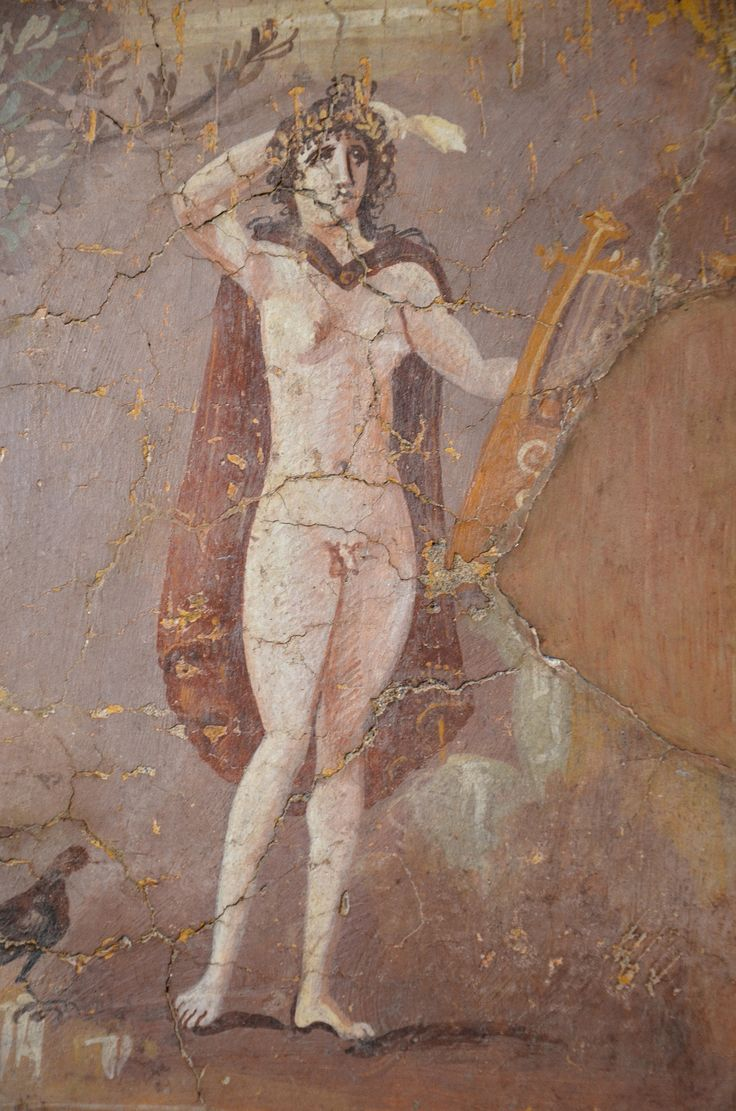 https://flic.kr/p/LUaJ5A   Fresco fragment depicting Hermaphrodite, 2nd half of 3rd century AD, from Capua, Museo di Scultura Antica Giovanni Barracco, Rome