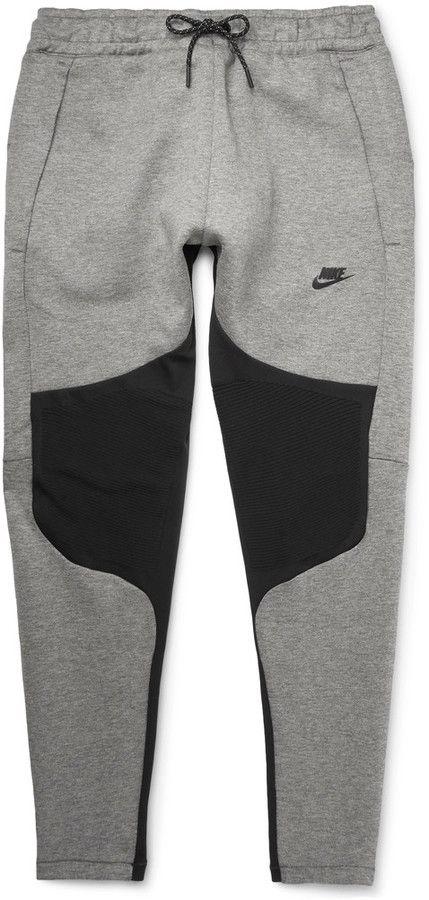 Nike Tapered Panelled Cotton-Blend Tech Fleece Sweatpants