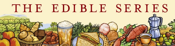 We have almost all the titles in the library. Global histories of various foods and drinks with a few recipes in some. Books are a part of the Edible series.
