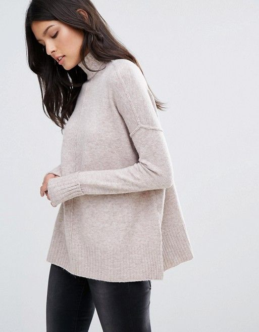River Island | River Island Assymetric Roll Neck Sweater