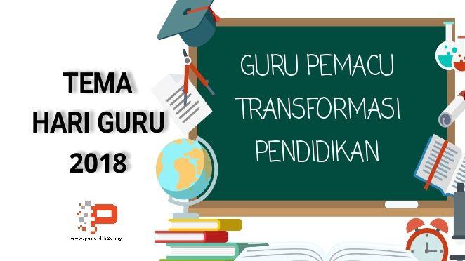 Tema Hari Guru 2018 Pendidikan