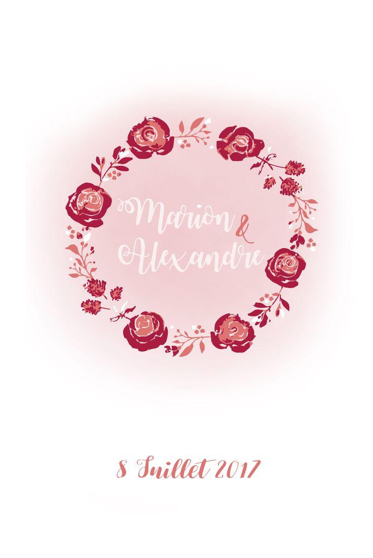 Carte d'invitation mariage lille
