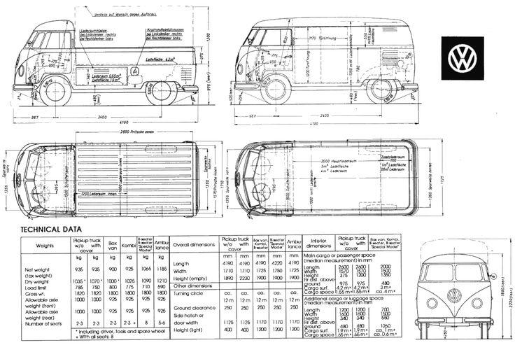 1947 Volkswagen Microbus Bus blueprint