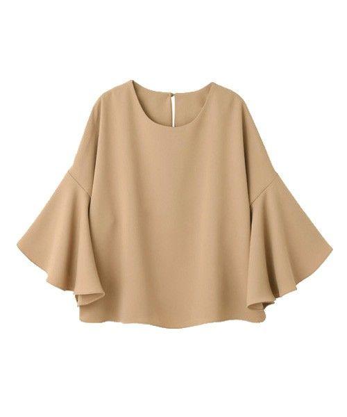 【LUXE】厚地ジョーゼットフレア袖ブラウス(Tシャツ/カットソー)|STYLE DELI(スタイルデリ)のファッション通販 - ZOZOTOWN