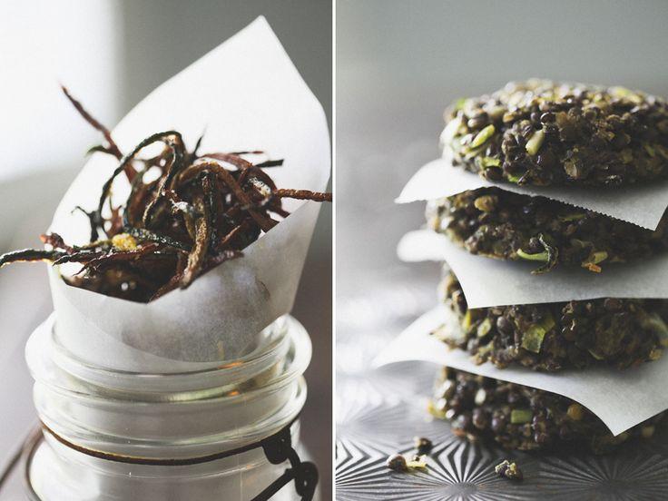 Lentil pesto cakes: Zucchinifri, Wilt Green, Tasti Recipes, Lentils Cakes, Yum Yum, Thyme Zucchini, Lemon Thyme, Cakes Yum, Zucchini Fries
