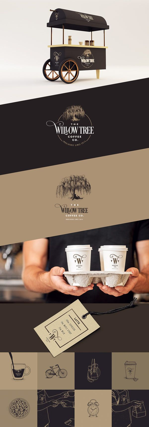 The sophisticated brand identity provides a taste of the high quality Brazilian coffee.