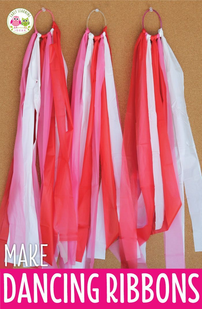 An Easy Craft For Kids How To Make Dancing Ribbons Easy Crafts