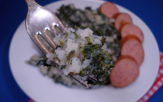 Boerenkool (mashed potatoes and kale)- Holland.com. Made some of Scott's comfort food today.
