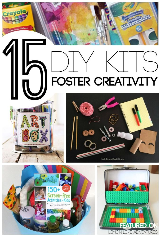DIY Gift Kits for Kids Foster Creativity   LOVE this list of simple handmade christmas gifts