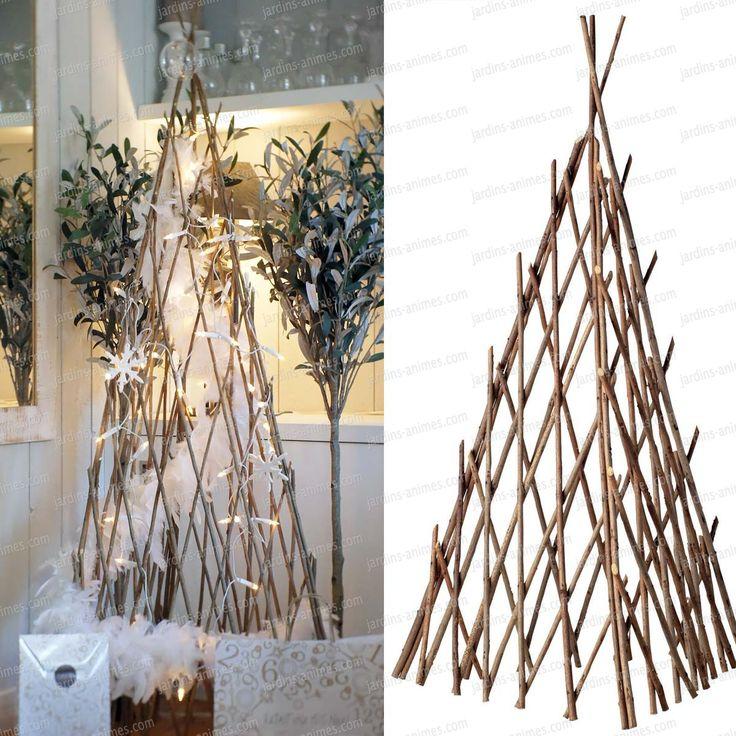 Les 25 meilleures id es de la cat gorie support plante grimpante sur pinterest treillis de - Faire un treillis en bambou ...