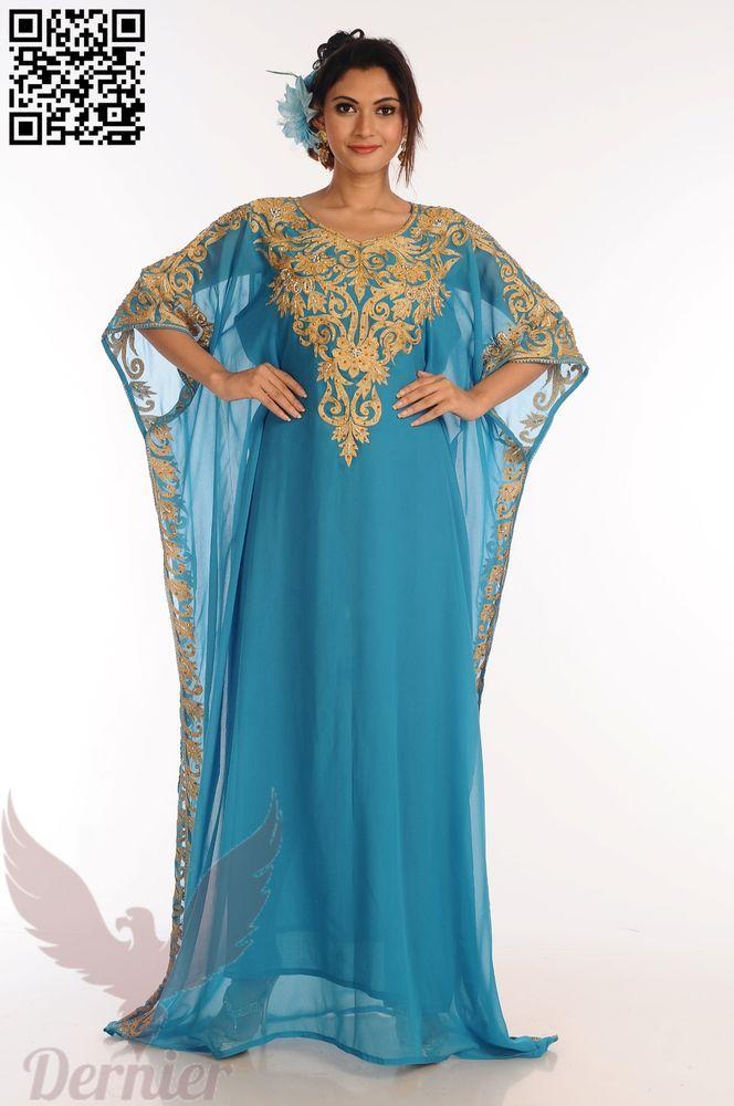 41a9476178 Designer Kaftan Abaya Arabic Wedding MOROCCAN gown Royal Maxi New Dress  #Handamde #Kaftan #PartCocktail