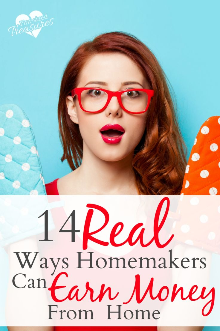 These are great money-making ideas for homemakers! They are real, practical and can help you earn a little cash on the side or a full-time income!