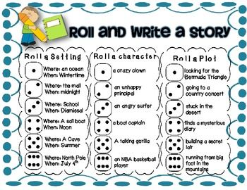 Roll and Write Freebie - work on writing time