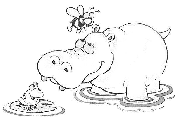 Dibujo Hipopotamo Para Colorear Dibujos Rincon De Arte Arte