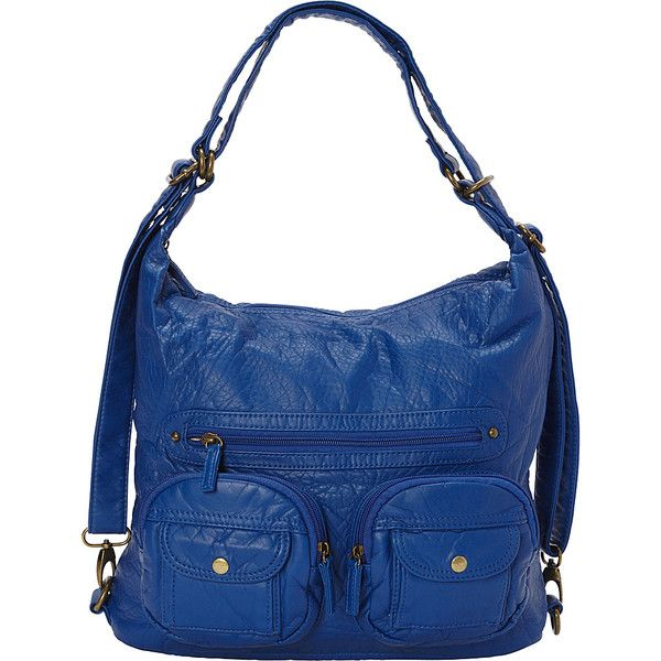 Ampere Convertible Backpack Crossbody Purse - Royal Blue - Crossbody... ($32) ❤ liked on Polyvore featuring bags, blue, animal backpacks, convertible backpack crossbody, convertible crossbody backpack, blue cross body bag and hobo crossbody bag