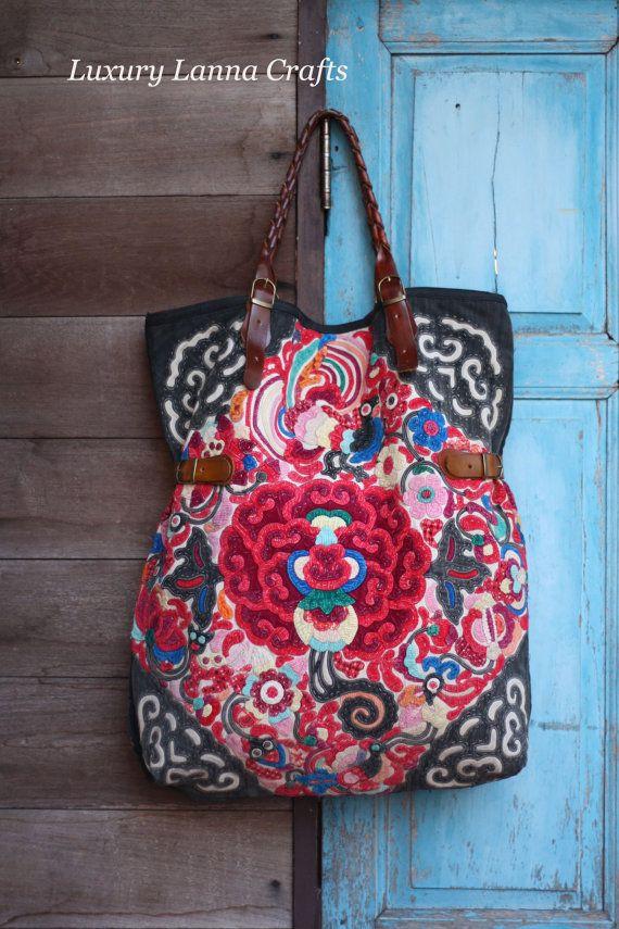 Luxury Lanna Hmong Ethnic Tote bag HB201260 by LuxuryLannaCrafts, $219.00
