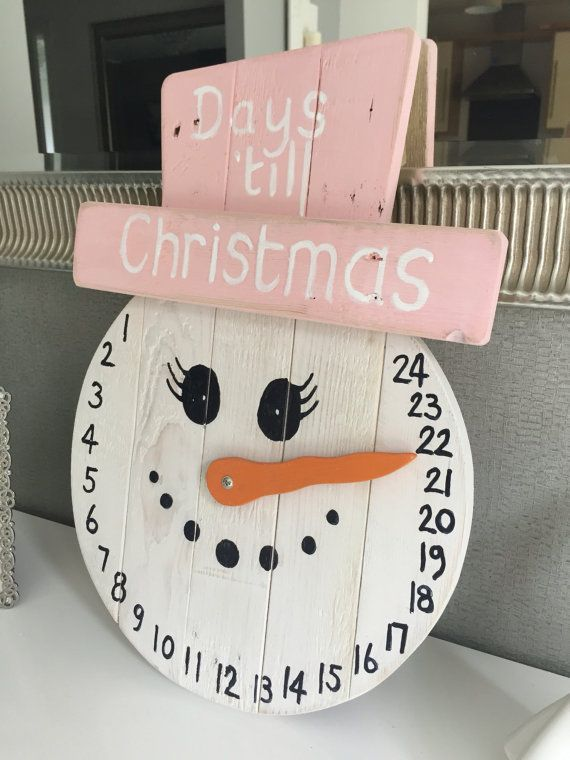 Days 'till Christmas counter by TheWoodWorkshopStore on Etsy