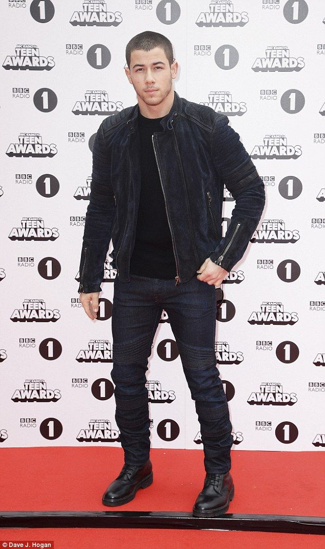 Main man: Nick Jonas was also set to take to the stage at the star-studded event...