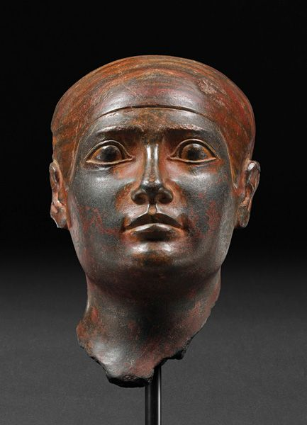 Statue head from the Old Kingdom: Dynasty 4-5, ca. 2639-2347 B.C