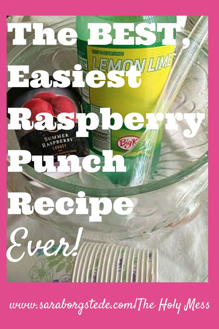 The BEST, Easiest Raspberry Punch Recipe, Ever! This recipe is so easy, it barely needs a recipe card. Still, it gets rave reviews every time I serve it. Pin for a great reference, and click to see other great recipes we served at this party.