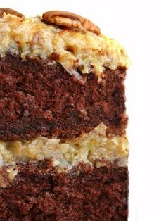 Homemade German Chocolate Cake and Frosting Recipe...worth a try!  Found at MissHomemade.com