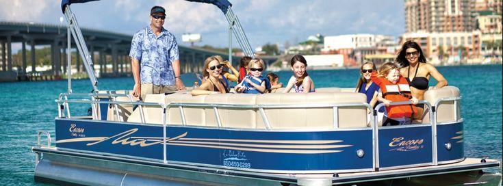 destin pontoon boat rental with stereo