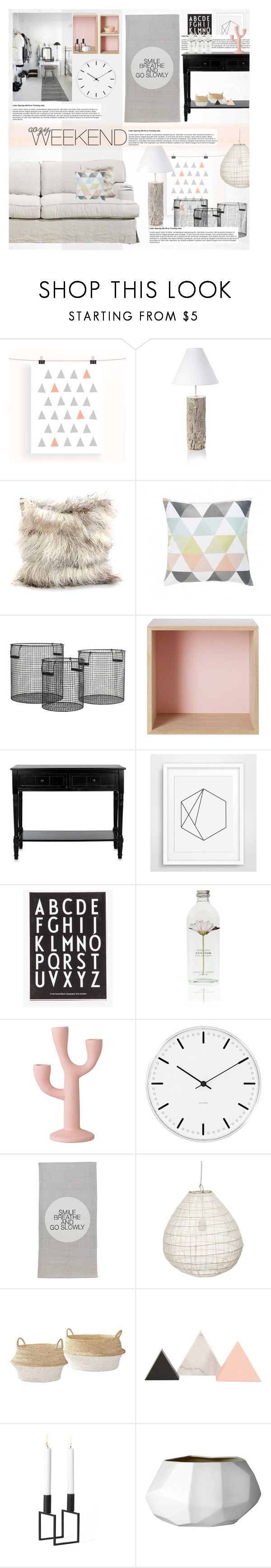 """""""Cozy Weekend"""" by allva ❤ liked on Polyvore featuring interior, interiors, interior design, home, home decor, interior decorating, French Connection, Dransfield & Ross, Nordal and Muuto"""