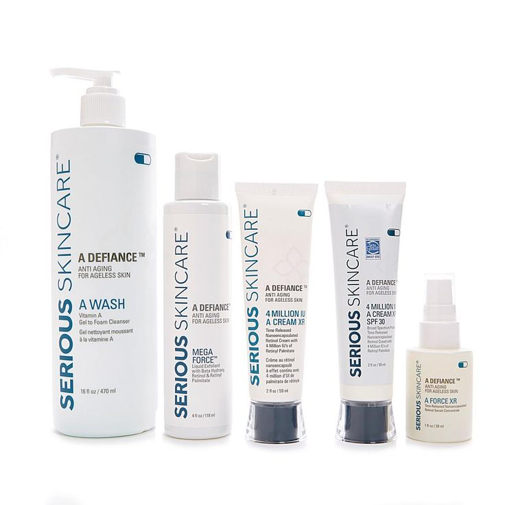 Serious Skincare by Jennifer Flavin-Stallone Serious Skincare A-Defy-AM/PM Routine Plus Jumbo A Wash