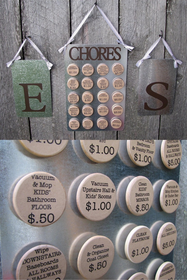 Chore Magnets What a great idea. I use a checklist but I think that this will be more fun.