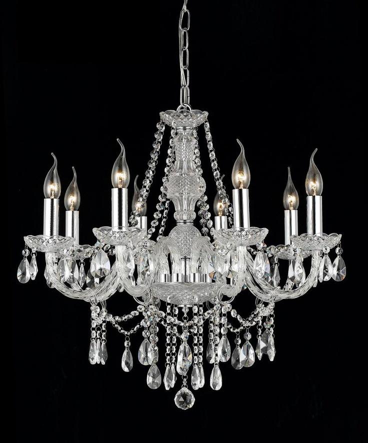 Krystall lampe er et interiør smykke.  Design glede  Pinterest