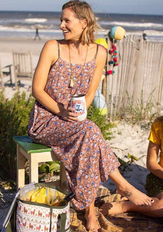 d943cb9f29 Floral prints + comfy styles… the perfect combination for all Natural Life  girls! This simple maxi dress has pockets, adjustable straps and is so easy  to ...