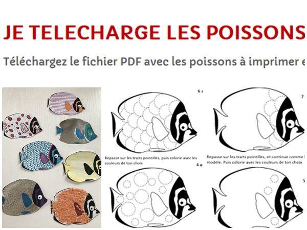 Des Petits Poissons D Avril A Imprimer Pour Faire De Jolies Farces En 2020 Poisson D Avril Coloriage Poisson Modele De Poisson