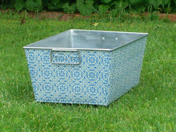 Metal Storage Container Galvanized Rectangular Bin by BroddersTubs, $32.00