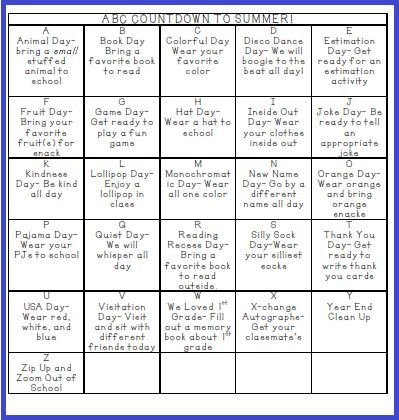 25+ best ideas about Abc countdown kindergarten on Pinterest ...