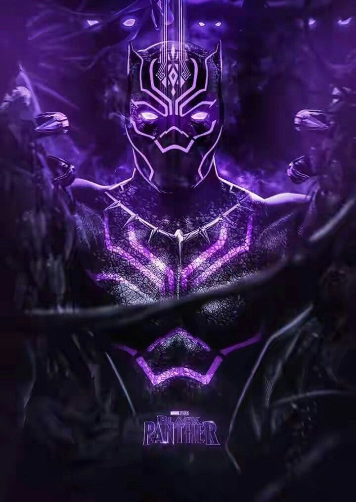 This Violet Colour Looks Super Awesome On Black Panther Art By Bosslogic Black Panther Art Black Panther Marvel Black Panther