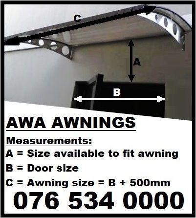 Awa Awning in Stainless Steel
