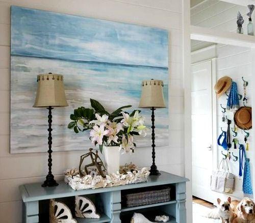90 best coastal entryways hallways images on pinterest for Large wall art for foyer
