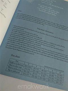 ukuran badan anak perempuan di buku jahit jepang