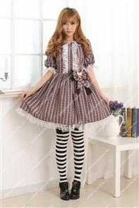 Violet Lace Trim with Big Bowknot Sweet Lolita Dress